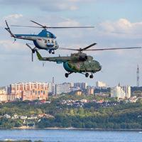 ПИЛОТАЖ НА ВЕРТОЛЁТАХ. Синхронный пилотаж на предельно малых интервалах и высотах. Демонстрирует вертолетная группа - ЦСКА Самара.