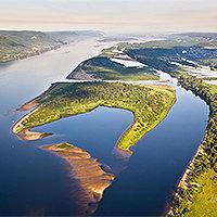 САМАРСКАЯ ЛУКА. Самая большая, значительно выраженная и известная излучина реки Волги